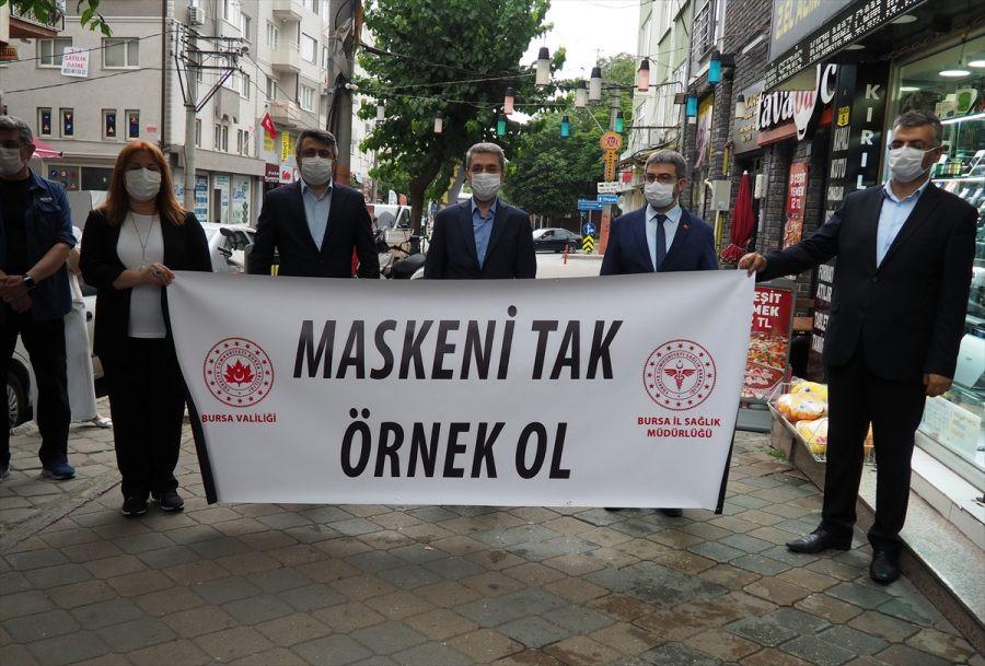 """YILDIRIM'DA """"SOSYAL MESAFE, MASKE VE HİJYEN"""" DENETİMİ"""